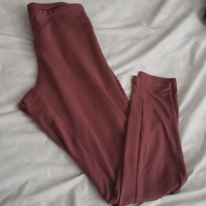 Express Super Soft Legging XS Rusty Rose Color